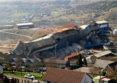 Demolition of the Pickle Line, Ebbw Vale, March 2004. Image courtesy of Ebbw Vale Demolition Team